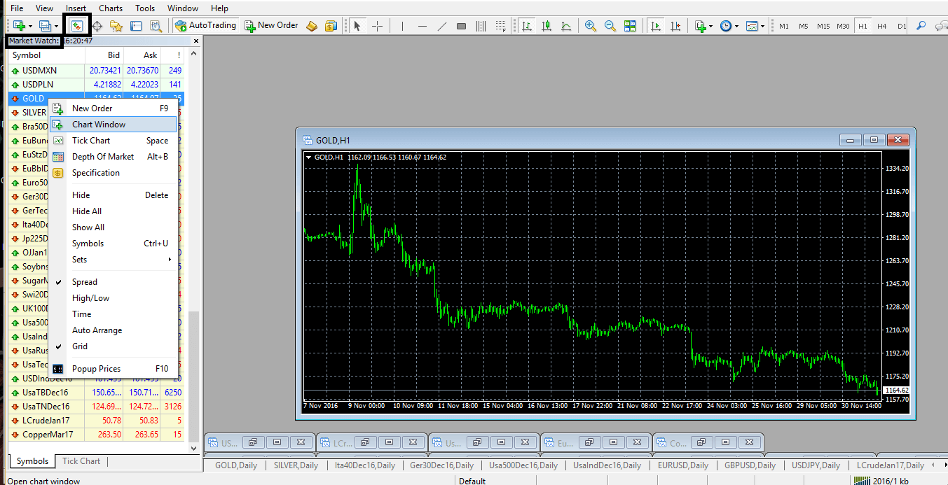 Pick Symbols in Metatrader