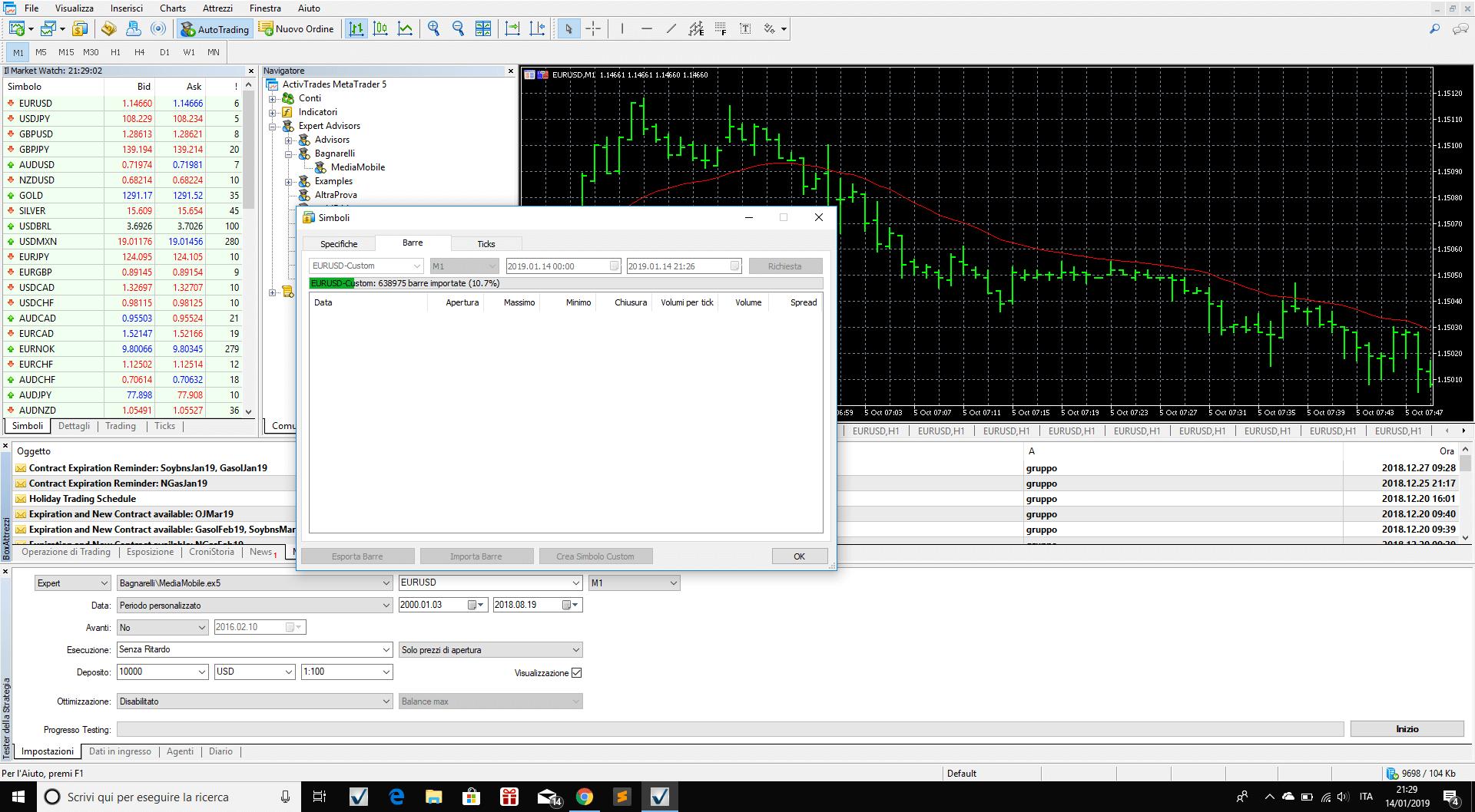Data loading in MT5