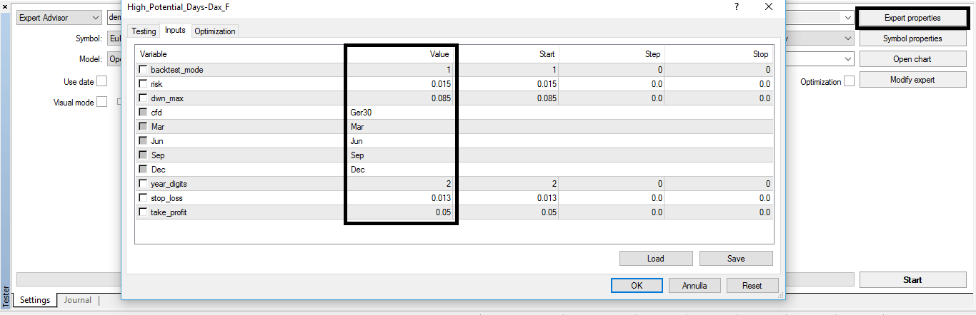 EA Dax sample for Metatrader